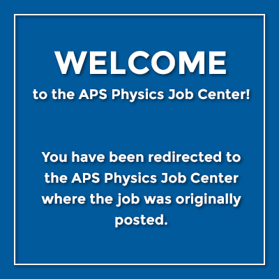 Redirected to Physics Today Jobs