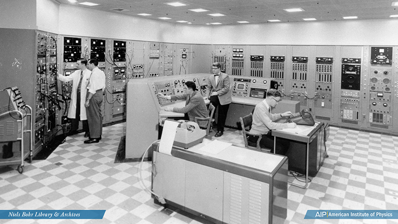 EN-1 tandem accelerator control room at the Chalk River Laboratories in Canada