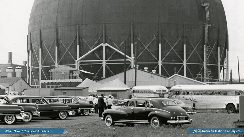 Dome of the first commercial nuclear power plant in West Milton, NY.