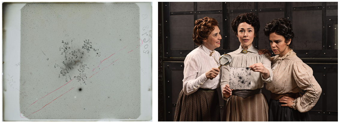 Photographic plate and actors at Ford's Theatre