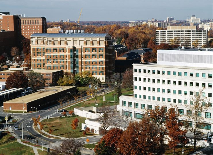 The NIH campus in Bethesda, Maryland.