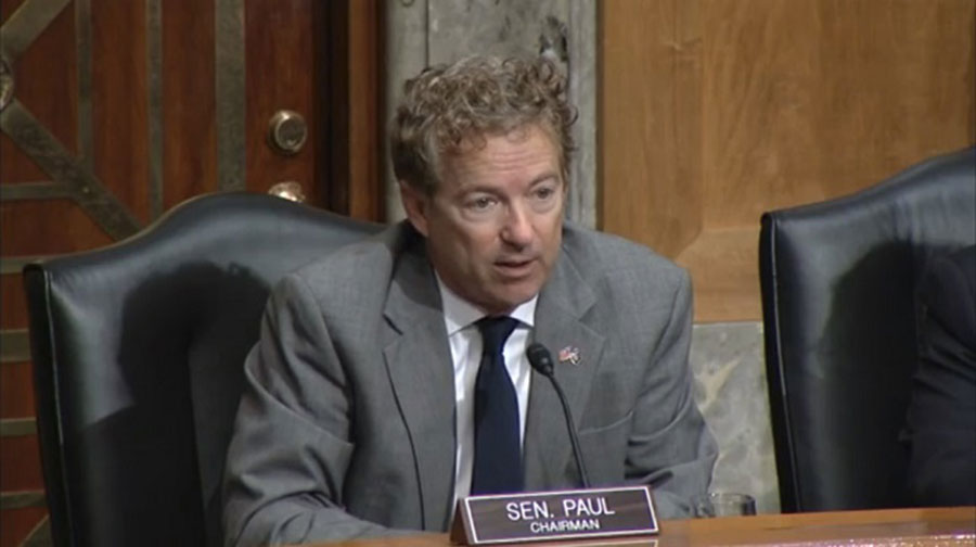 Sen. Rand Paul (R-KY) spoke about his bill to overhaul the federal research grant system at an Oct. 18 subcommittee hearing he convened.