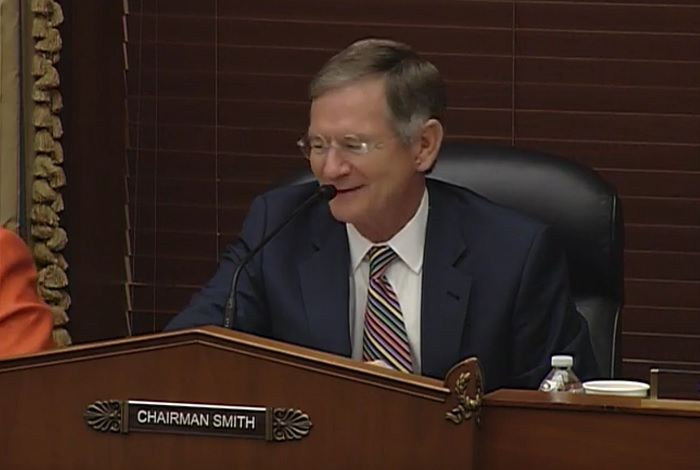 Rep. Lamar Smith corrects Rep. Ed Perlmutter on the total number of subpoenas the committee has issued.