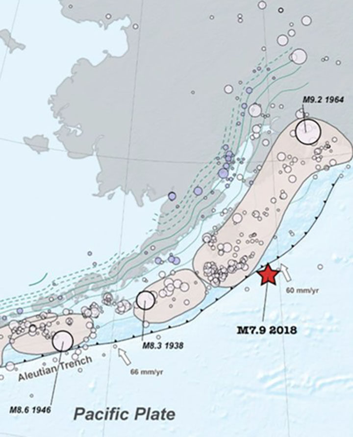 Alaskan earthquakes