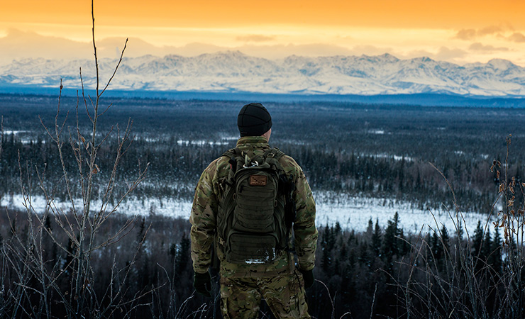 An Air Force Arctic Survival School instructor at Eielson Air Force Base