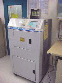 A cesium-137 irradiation device at a hospital.