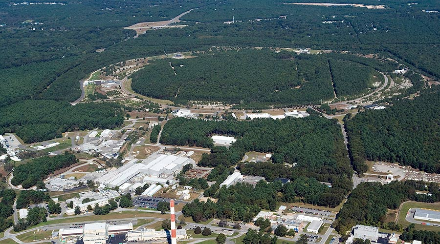 Aerial view of the Relativistic Heavy Ion Collider