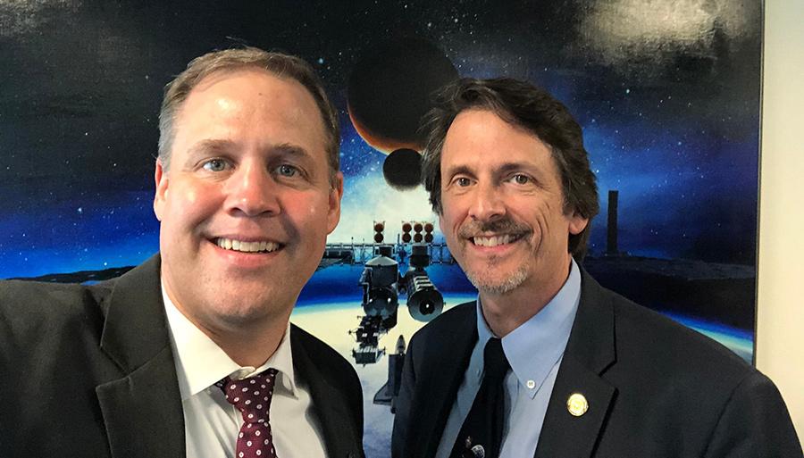 NASA Administrator Jim Bridenstine and Deputy Associate Administrator for Exploration Steve Clarke