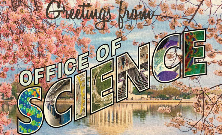 """Postcard """"Greetings from Office of Science"""""""