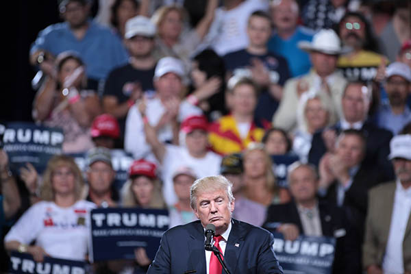 President-elect Donald Trump at a June rally