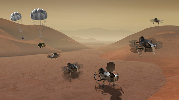 Dragonfly is a finalist for the Planetary Science Division's next New Frontiers mission.