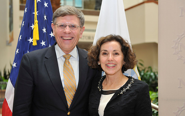 Kelvin Droegemeier and NSF Director France Córdova