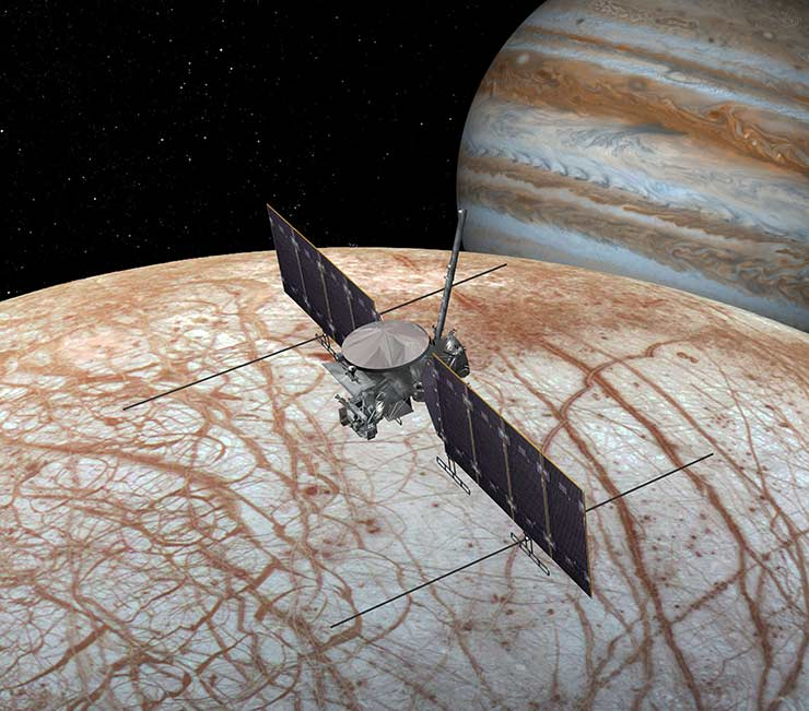 Artist's conception of Europa Clipper