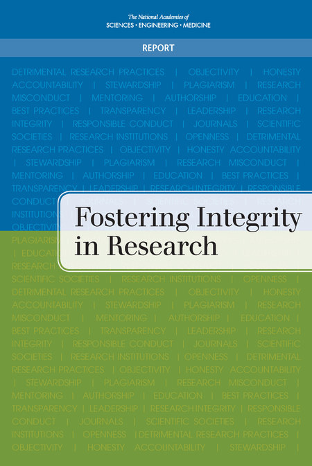 Fostering Integrity in Research report cover