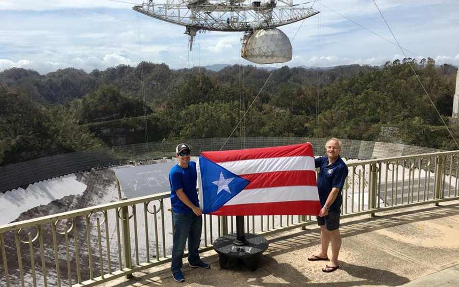 Arecibo Observatory after Hurricane Maria