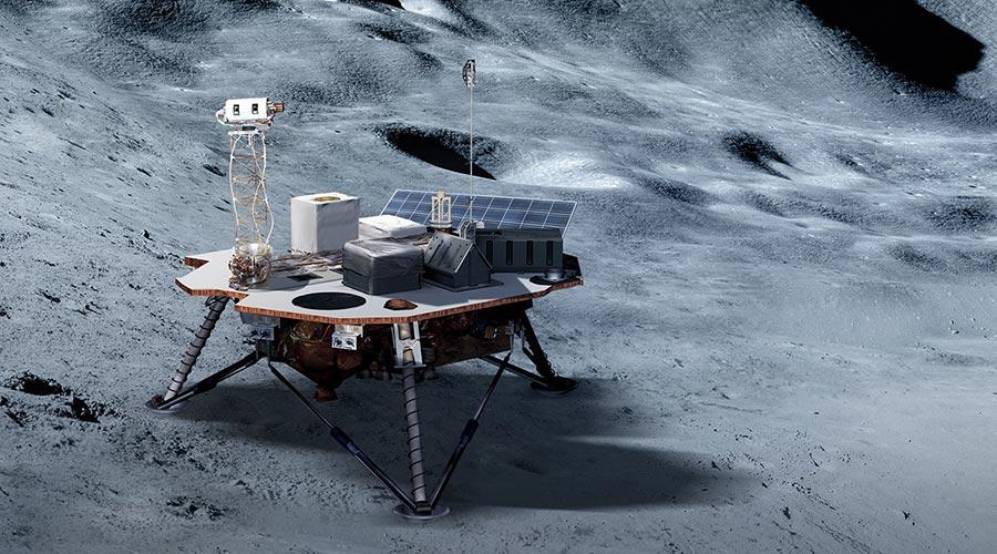 Artist's conception of lunar lander