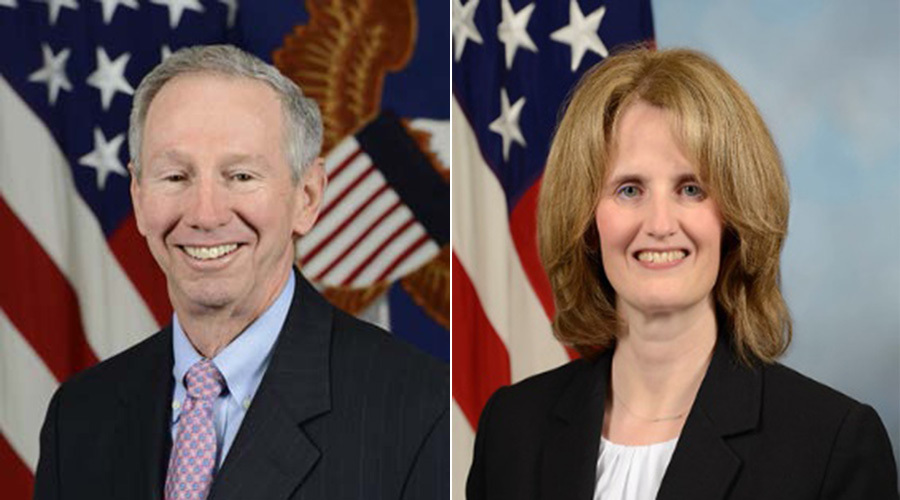 Under Secretary of Defense for Research and Engineering Mike Griffin and Deputy Under Secretary of Defense for Research and Engineering Lisa Porter.