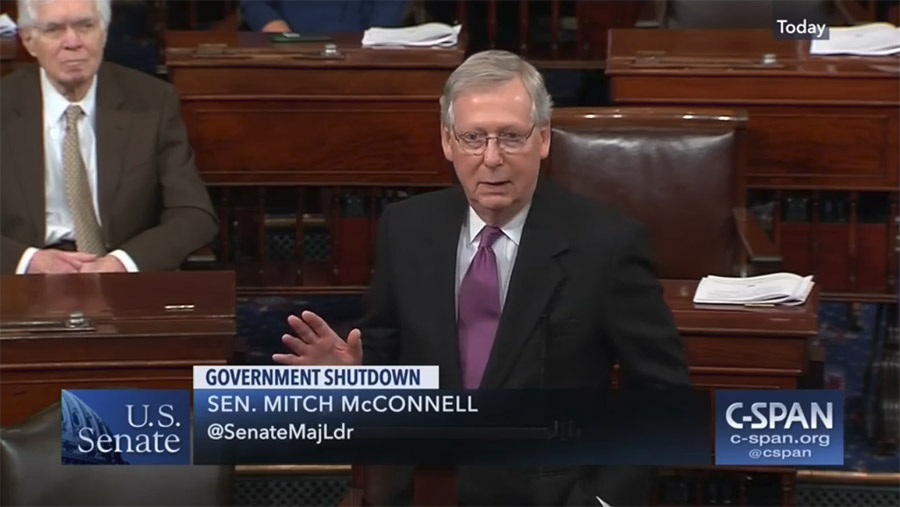 Mitch McConnell on Senate floor