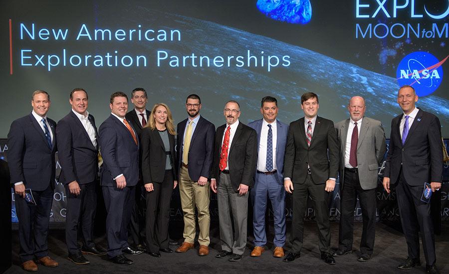 NASA commercial lander announcement