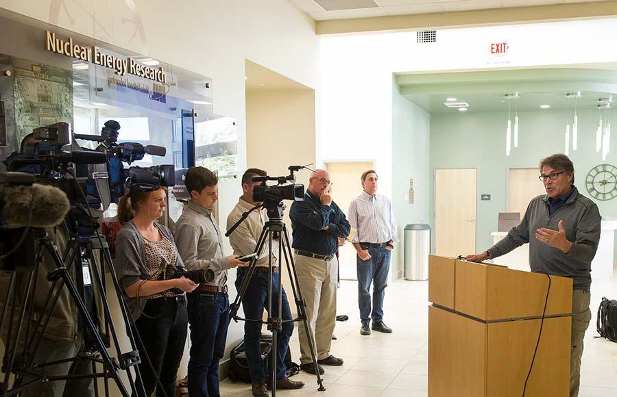 Energy Secretary Rick Perry at Idaho National Laboratory