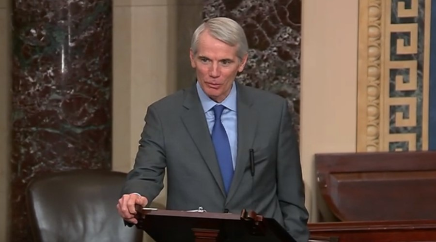 Sen. Rob Portman (R-OH) speaking on the Senate floor.