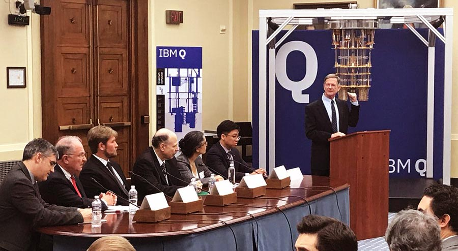 IBM Quantum Computer in House Science Committee room