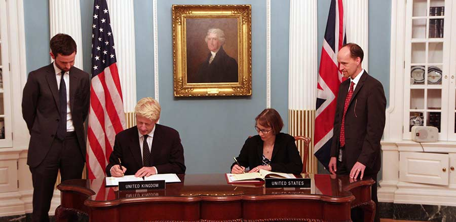 US-UK S&T Cooperation Agreement Signing Ceremony