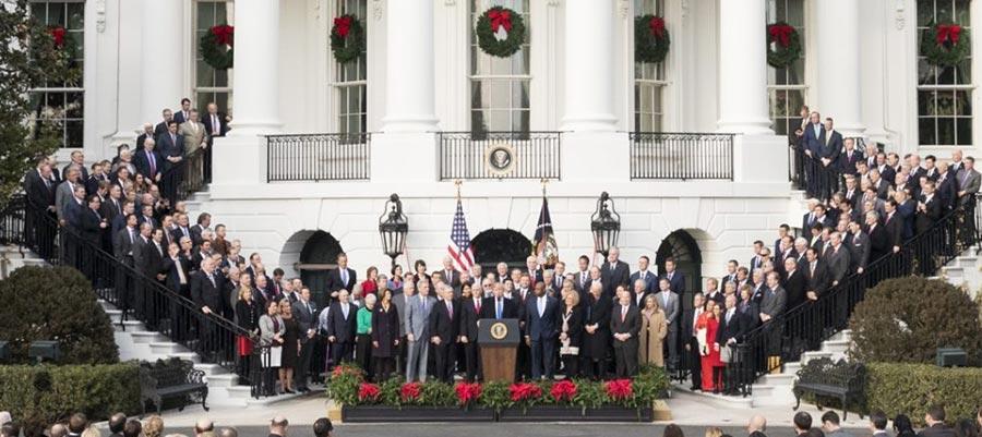 Tax bill signing ceremony