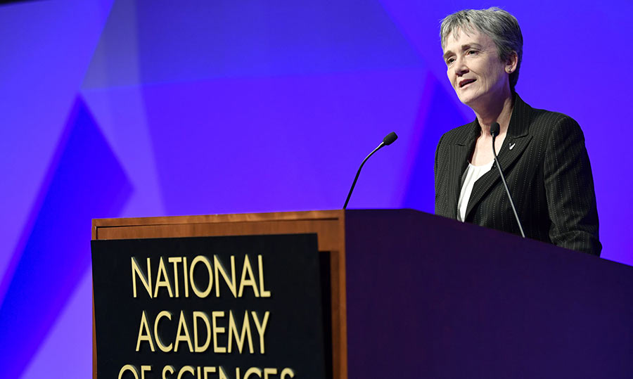 Heather Wilson at the National Academy of Sciences