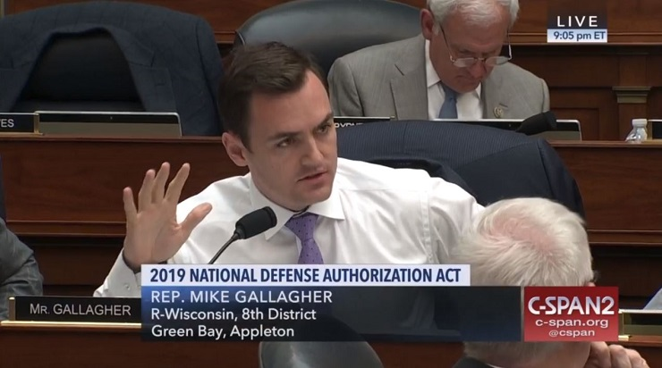 At a House Armed Services Committee meeting on May 9, Rep. Mike Gallagher (R-WI) offered an amendment authorizing DOD to deny funding to researchers who have participated in certain foreign talent recruitment programs.