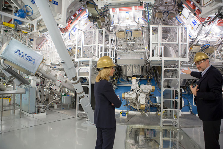 Lisa Gordon-Hagerty touring the National Ignition Facility