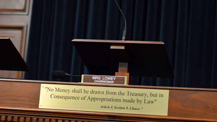 House Appropriations Committee Podium