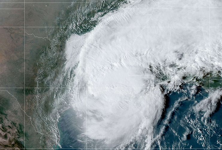 Hurricane Delta, imaged by the GOES-East satellite on Oct. 9.