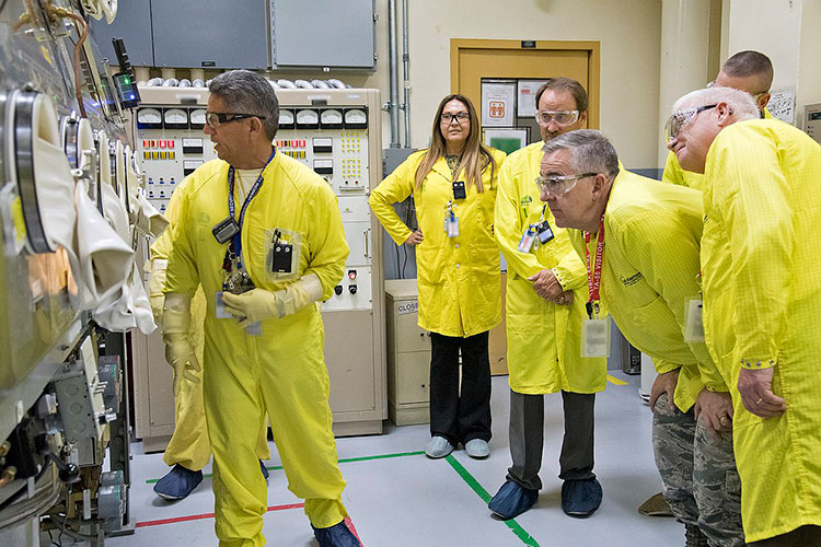 Gen. John Hyten at Los Alamos plutonium lab