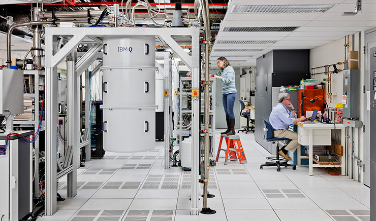 Researchers work on IBM Q, a network of prototype quantum processors.