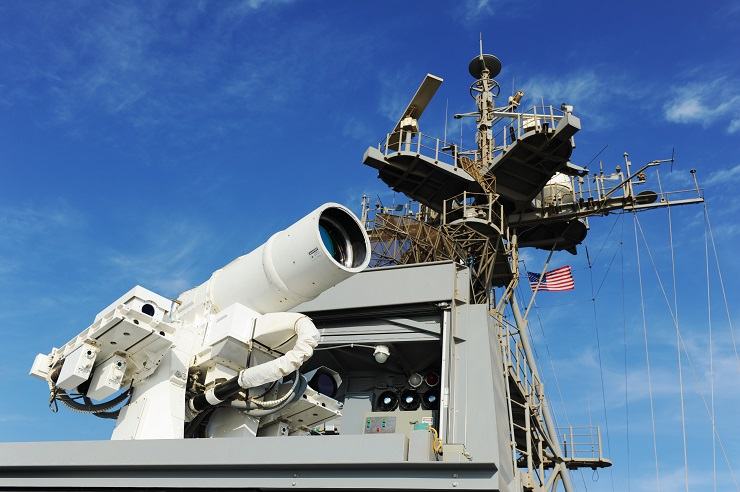 The Navy's Laser Weapon System installed aboard USS Ponce.