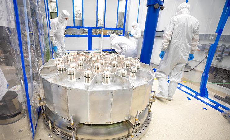 Personnel working on the LUX-ZEPLIN dark matter detector