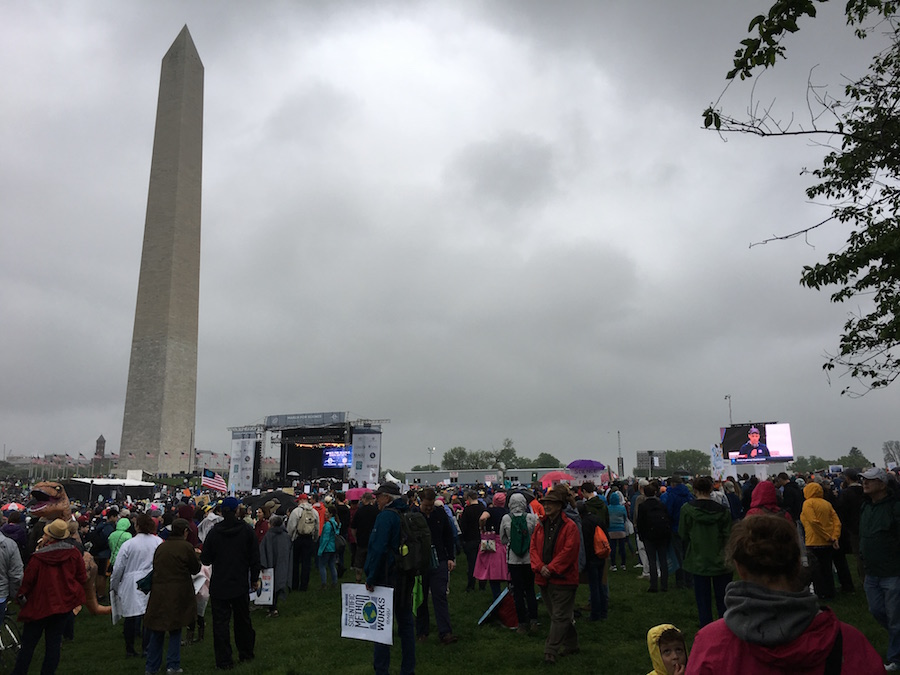 March for Science main stage by Washington Monument