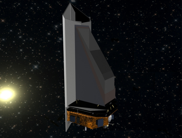 Concept image of the NEOCam telescope. NASA has committed to developing a similar telescope called the NEO Surveillance Mission that will be dedicated to detecting asteroids.