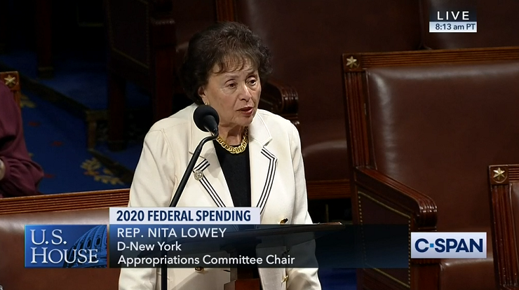 House Appropriations Committee Chair Nita Lowey (D-NY)