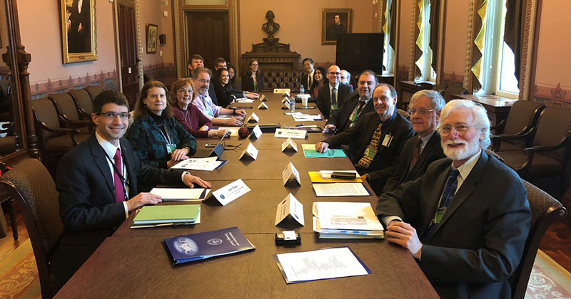 The NSTC Subcommittee on Quantum Information Science held its first meeting on April 27. Seated at the front left is Jake Taylor, the White House OSTP assistant director for QIS.
