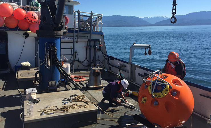 A National Oceanic and Atmospheric Administration field crew near Puget Sound, Washington.