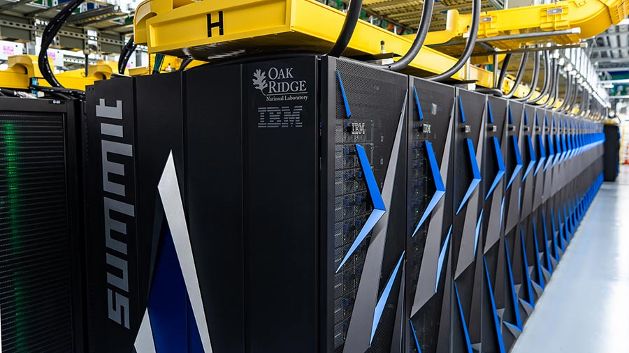 DOE's recently commissioned Summit supercomputer at Oak Ridge National Laboratory is currently rated the world's fastest.