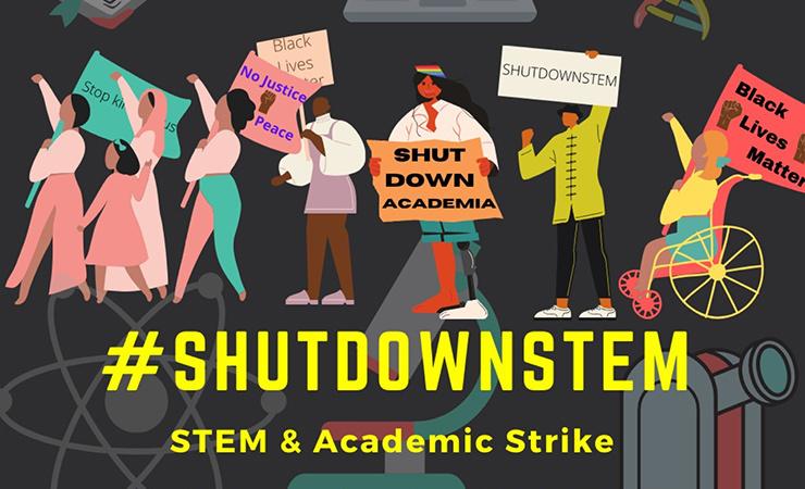 #ShutDownSTEM poster