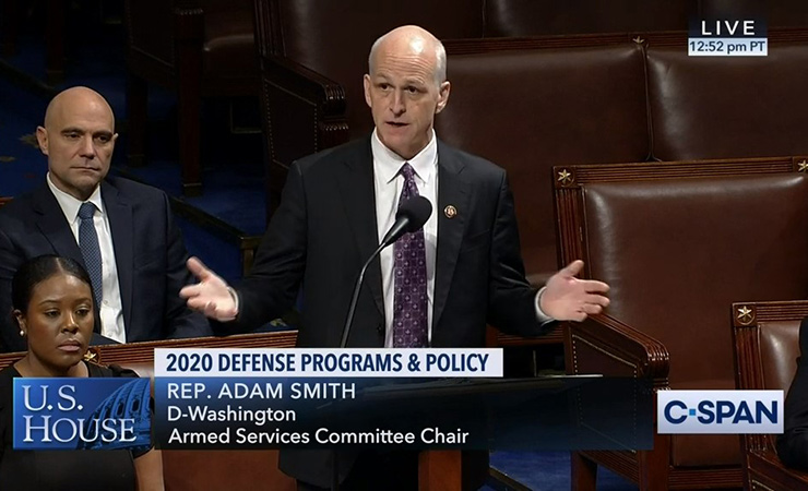 House Armed Services Committee Chair Adam Smith (D-WA) discusses the National Defense Authorization Act on the floor of the House.