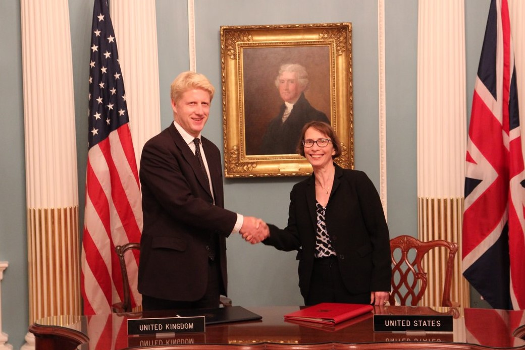 UK and US S&T agreement signing ceremony