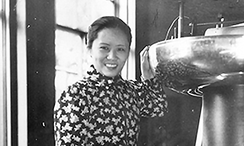 We are celebrating Women's History Month with a set of photographs from our archives of women who impacted their unique subfields of the physical sciences.