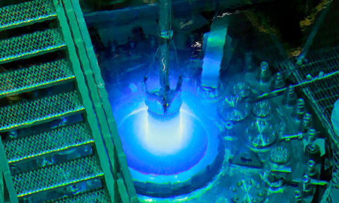 Oak Ridge National Laboratory's High Flux Isotope Reactor during a routine refueling operation in 2015