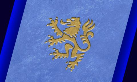 Picture of banner with Dutch Lion