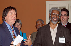Washington Post reporter Joel Achenbach, with National Medal of Science winner James Gates (2011).